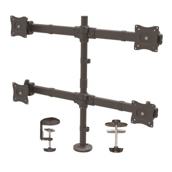 StarTech Quad Articulating Desk Clamp Monitor Arm - Up to 27-inch Screen Image