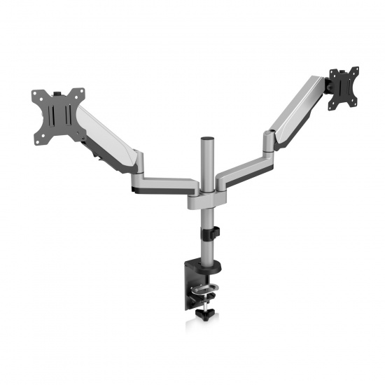 V7 DM1DTA-1E Touch Adjustable Dual Monitor Mount - Up to 32-inch Screen Image