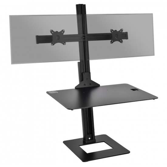 Siig CE-MT2H12-S1 Dual Desk Monitor Stand - Up to 30-inch Screen Image