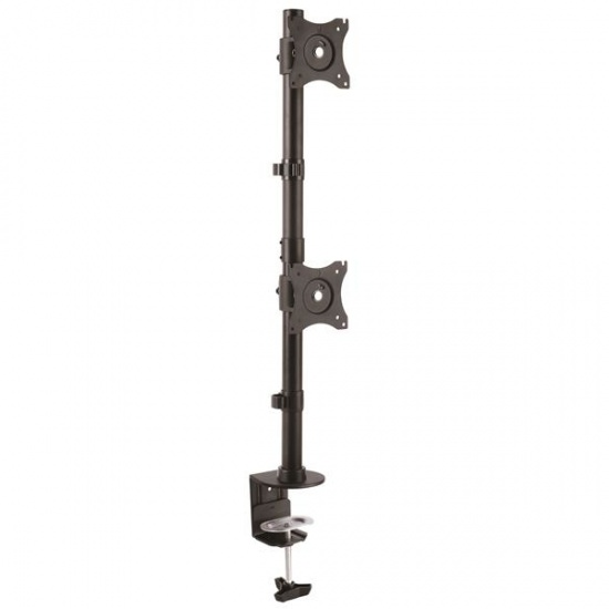StarTech ARMDUALV Vertical Dual Desk Clamp Monitor Mount - Up to 27-inch Screen Image