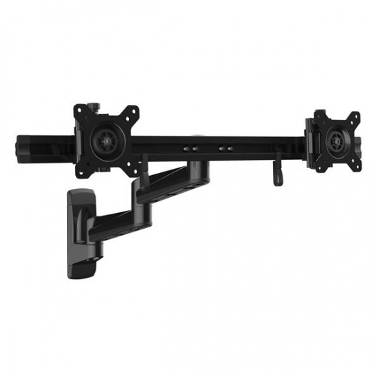 StarTech ARMDUALWALL Articulating Wall Mount Dual Monitor Arm - Up to 24-inch Screen Image
