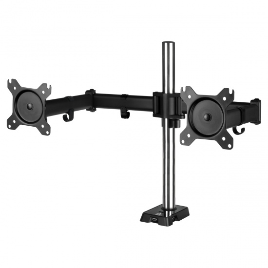 Arctic Z2 AEMNT00050A 4-Port USB2.0 Dual Clamp Monitor Arm - Up to 34-inch Screen - Black Image