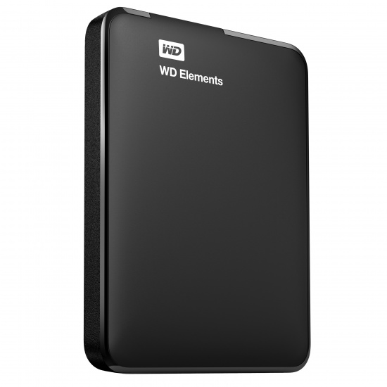 500GB Western Digital Elements 2.5-inch USB3.0 Portable Hard Drive - Black Image