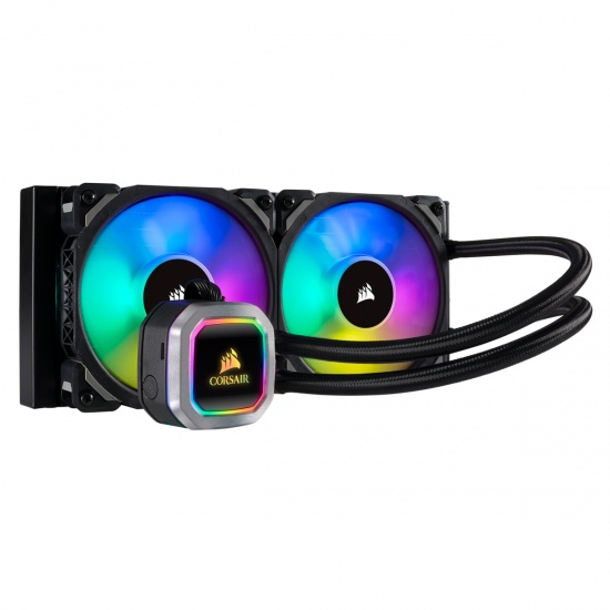 Corsair Hydro H100i RGB Platinum 240mm Liquid CPU Processor Cooler Image