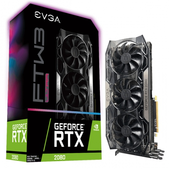 EVGA GeForce RTX 2080 Ultra Gaming 8GB GDDR6 Graphics Card Image
