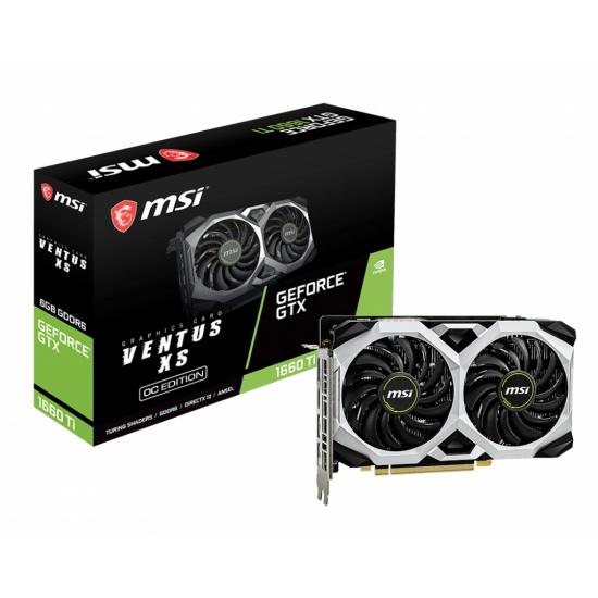 MSI GeForce GTX 1660 Ti Ventus XS 6GB GDDR6 Graphics Card Image