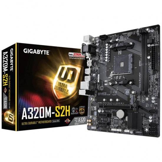 Gigabyte AM4 AMD A320M-S2H Micro ATX DDR4-SDRAM Motherboard Image