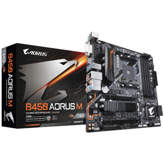 Gigabyte AMD B450 AM4 Aorus Micro ATX DDR4-SDRAM Motherboard Image