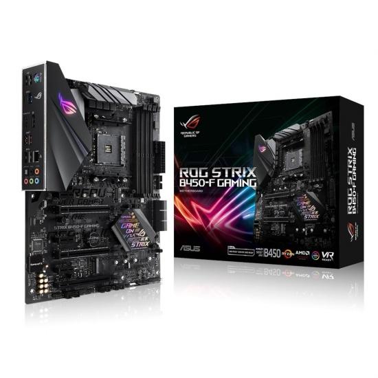 Asus Ryzen 2 ROG Strix B450-F AM4 AMD Gaming ATX DDR4-SDRAM Motherboard Image