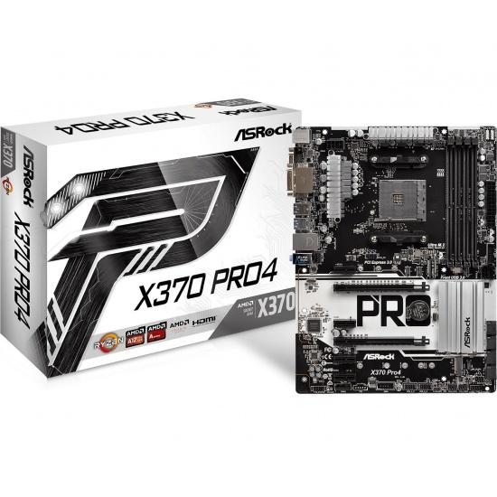 Asrock Pro 4 AMD X370 AM4 Ryzen ATX DDR4-SDRAM Motherboard Image