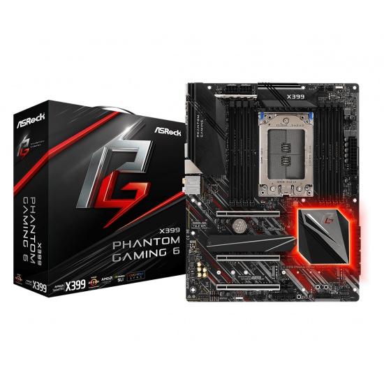 Asrock AMD X399 Phantom Gaming 6 DDR4-SDRAM ATX Motherboard Image