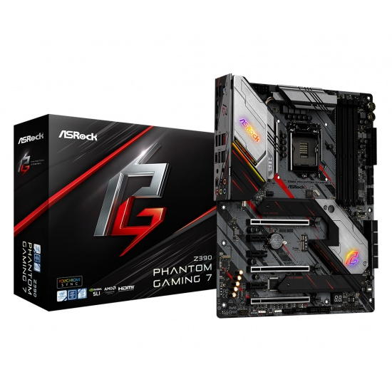 Asrock Phantom Gaming 7 Intel Z390 LGA1151 DDR4-SDRAM ATX Motherboard Image