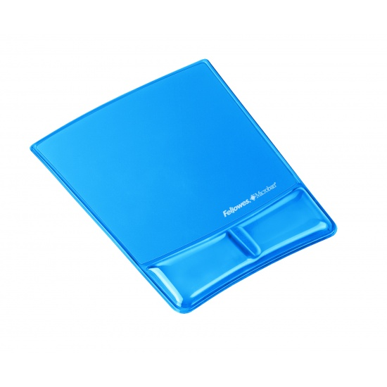 Fellowes Health V Mouse Pad with Pillow Wrist Support- Blue Image