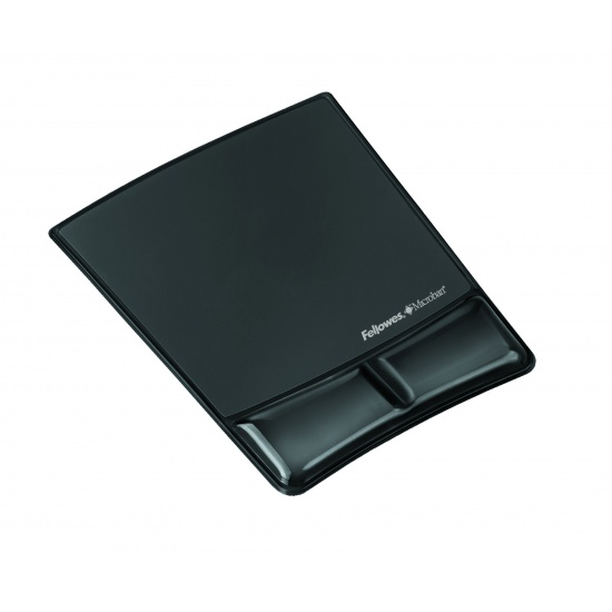 Fellowes Health V Crystal Mouse Pad with Wrist Support-Black Image