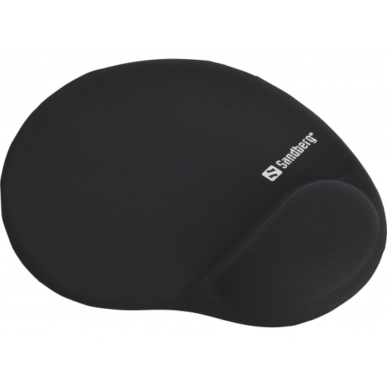 Sandberg Gel Mouse Pad with Wrist Rest - Black Image