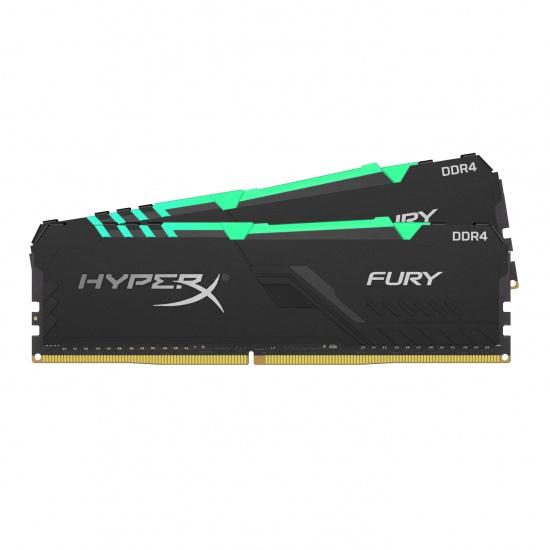 32GB Kingston Fury RGB DDR4 3000MHz PC4-24000 CL15 1.35V Dual Memory Kit (2 x 16GB) - Black Image