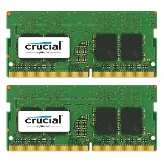 16GB Crucial DDR4 SO-DIMM 2400MHz PC4-19200 CL17 1.2V Dual Laptop Memory Kit (2 x 8GB) Image