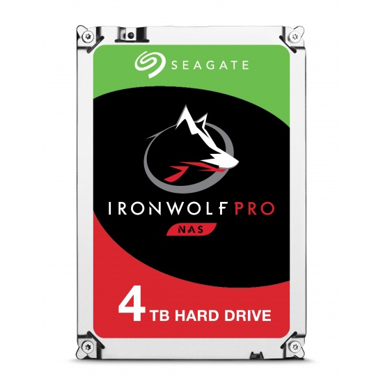 4TB Seagate IronWolf Pro 3.5-inch 7200RPM 128MB Cache SATA 6Gbps Internal Hard Drive Image