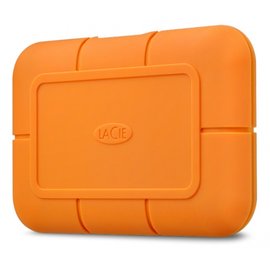500GB Seagate LaCie Rugged USB3.0 External Solid State Drive - Orange Image