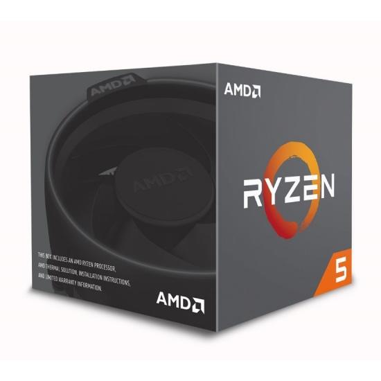 AMD Ryzen 5 1600 Wraith Spire AM4 3.2GHz 16MB Cache L3 CPU Desktop Processor Boxed Image