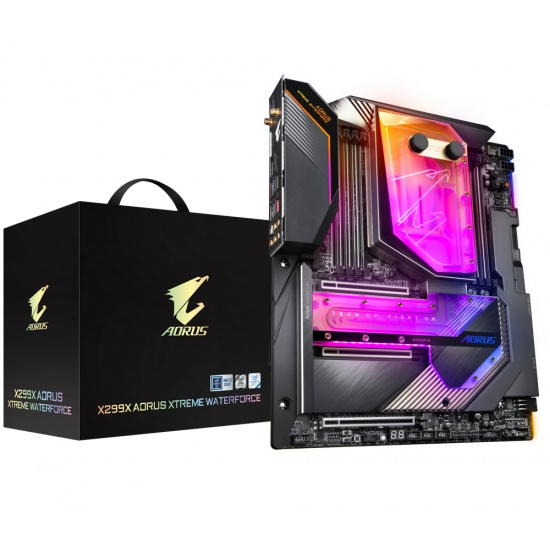 Gigabyte X299X Aorus Xtreme Waterforce LGA 2066 Intel X299 Express XL-ATX DDR4-SDRAM Motherboard Image