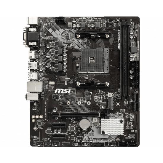 MSI B450M Pro M2 Max AMD B450 AM4 Micro ATX DDR4-SDRAM Motherboard Image