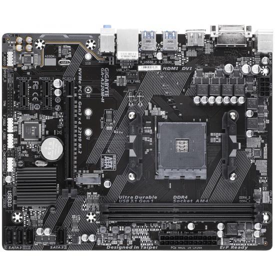 Gigabyte AMD A320 AM4 Micro ATX DDR4-SDRAM Motherboard Image