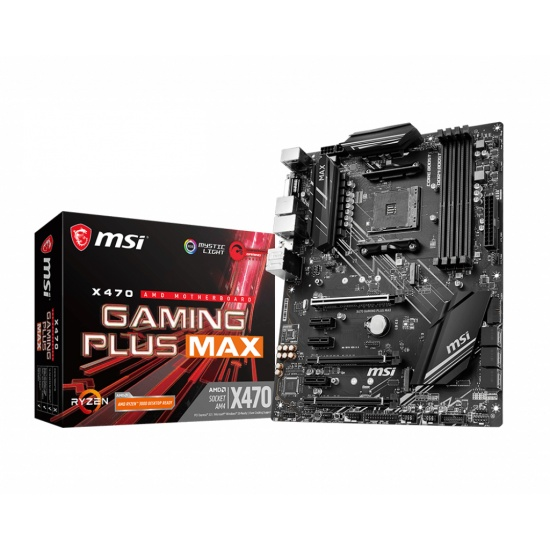 MSI Gaming Plus Max AM4 AMD X470 DDR4-SDRAM Motherboard Image