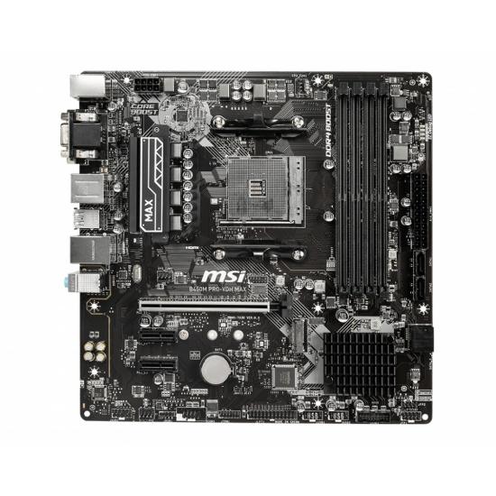 MSI B450M PRO-VDH Max AMD  AM4 Micro ATX DDR4-SDRAM Motherboard Image