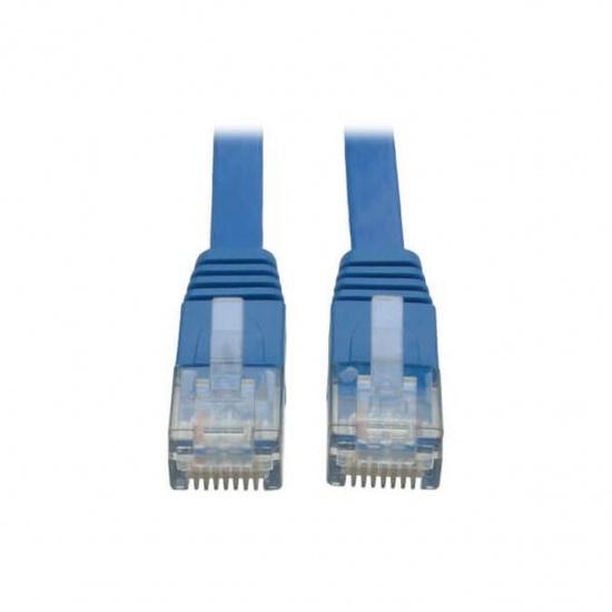 Tripp Lite 25FT RJ45 Male Cat6 Gigabit Molded UTP Flat Patch Cable - Blue Image