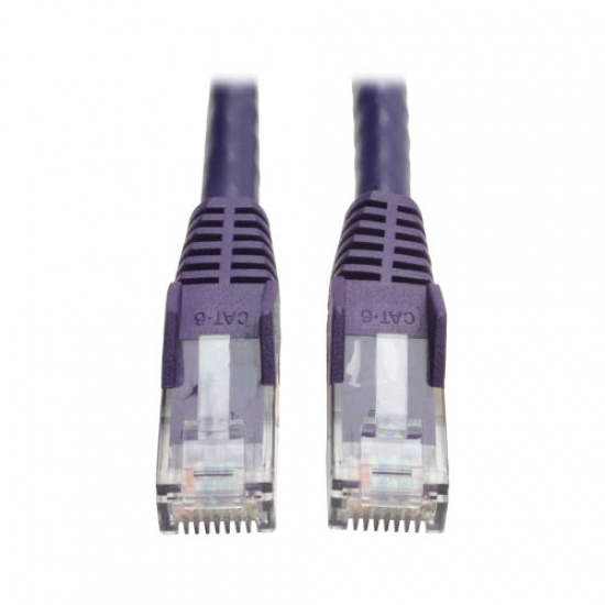 Tripp Lite 14FT RJ45 Male Cat6 Gigabit Snagless Molded Patch Cable - Purple Image