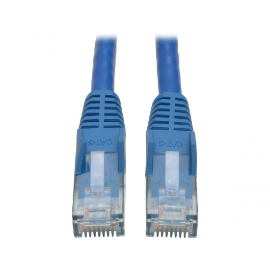 Tripp Lite 12FT RJ45 Male Cat6 Gigabit Snagless Molded Patch Cable  - Blue Image