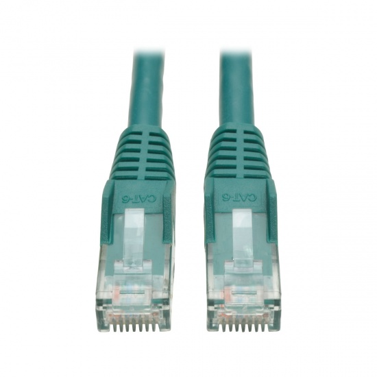 Tripp Lite 10FT RJ45 Male Cat6 Gigabit Snagless Molded Patch Cable - Green Image