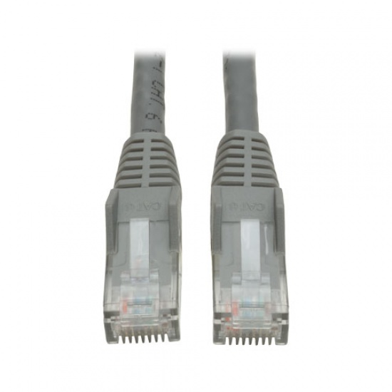 Tripp Lite 6FT RJ45 Male Cat6 Gigabit Snagless Molded Patch Cable - Gray Image