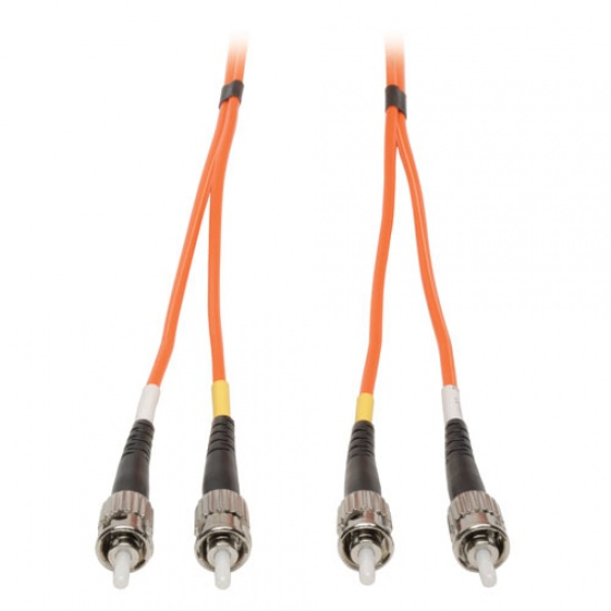 Tripp Lite 50FT ST to ST Duplex Multimode 62.5/125 Fiber Patch Cable - Orange Image