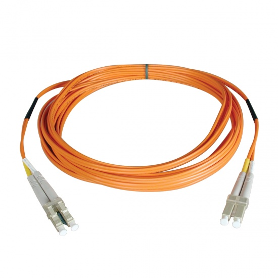 Tripp Lite 50FT LC to LC Duplex Multimode 62.5/125 Fiber Patch Cable - Orange Image