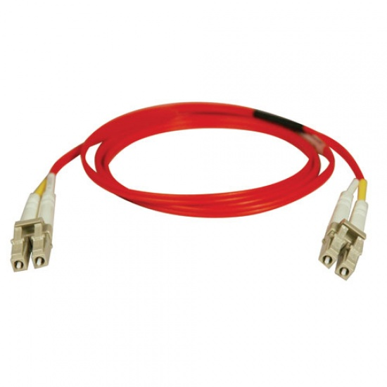 Tripp Lite 33FT LC to LC Duplex Multimode 62.5/125 Fiber Patch Cable - Red Image