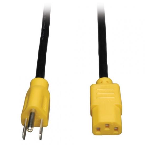 Tripp Lite 4FT NEMA 5-15P to IEC-320-C13 Universal Computer Power Cord Lead Cable - Yellow Plugs Image