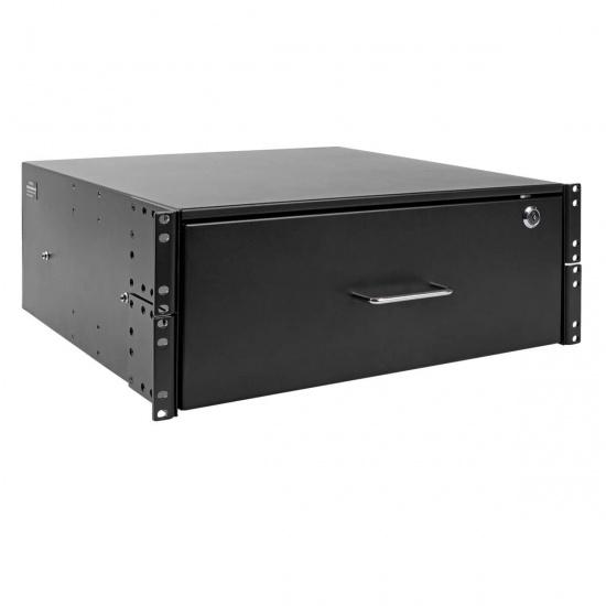 Tripp Lite 19-Inch 4U Locking Rackmount Open Frame Storage Drawer - Black Image