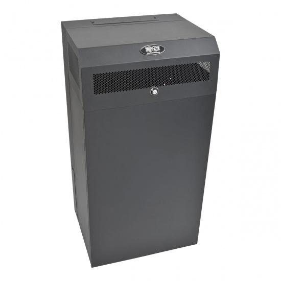 Tripp Lite 12U Wallmount Low Profile Vertical Mount Server Depth Rack Enclosure Cabinet - Black Image