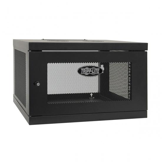 Tripp Lite 19-Inch 6U Wall Mount Rack Enclosure Cabinet - Black Image
