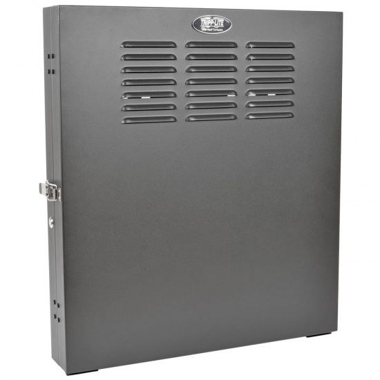 Tripp Lite 19-Inch 2U Wall Mount Low Profile Vertical Secure Rack Cabinet - Black Image