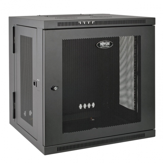Tripp Lite 19-Inch 12U Wall Mountable Rack Enclosure Server Cabinet with Swinging Hinged Door - Black Image