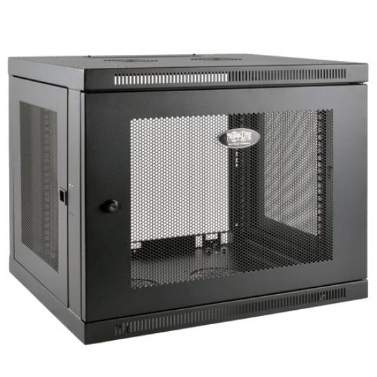 Tripp Lite 19-Inch 9U Low Profile Wall Mountable Rack Enclosure Server Cabinet - Black Image