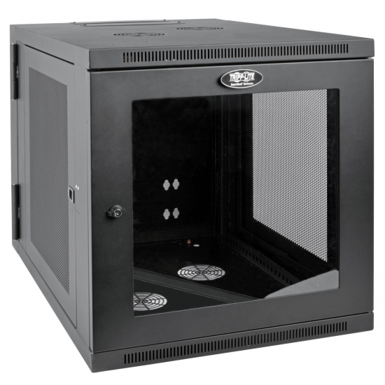Tripp Lite SmartRack 12U Server Depth Wall Mountable Rack Enclosure Cabinet with Clear Acrylic Window - Black Image