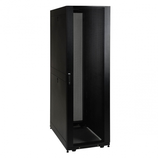 Tripp Lite 19 Inch 42U Rack Enclosure Cabinet with Threaded 10-32 Mount Holes - Black Image