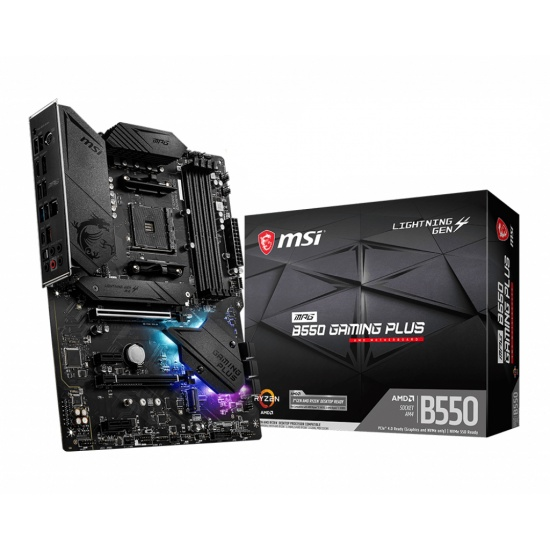 MSI MPG AMD B550 Gaming Plus Socket AM4 ATX DDR4-SDRAM Motherboard Image