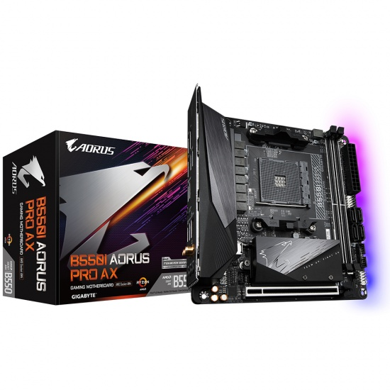 Gigabyte AMD B550 Aorus Pro AX AM4 Mini ITX DDR4-SDRAM Motherboard Image