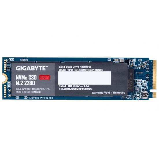 512GB Gigabyte M.2 PCI Express 3.0 NVMe Internal Solid State Drive Image