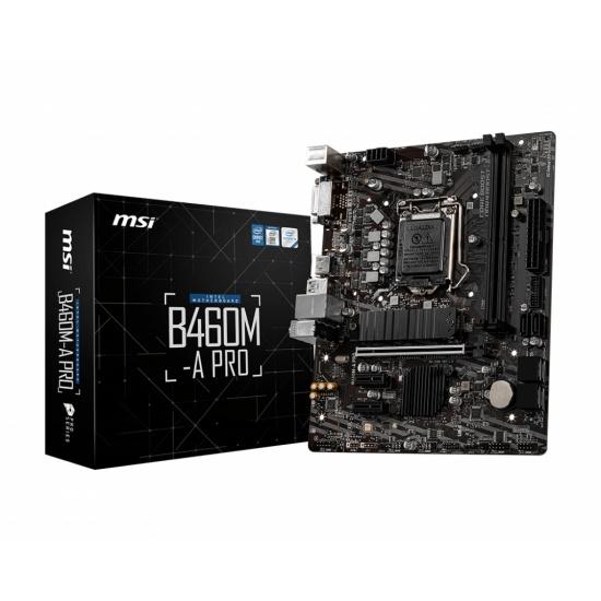 MSI Pro Intel B460M-A PRO LGA 1200 Micro ATX DDR4-SDRAM Motherboard Image
